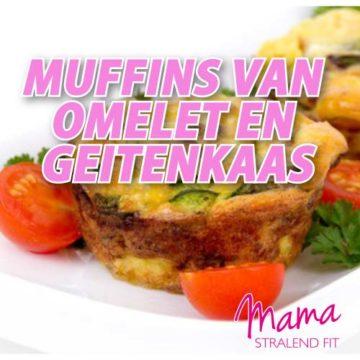 Feestelijk ontbijt: Muffins van omelet en geitenkaas