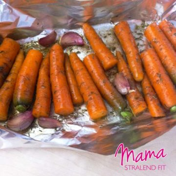 Friet van wortel, uit de oven