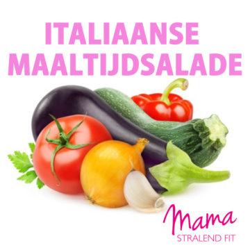 Italiaanse maaltijdsalade boordevol groenten