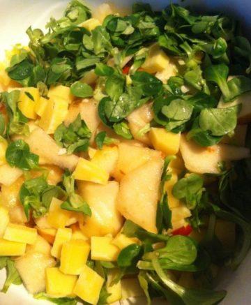 Koolrabi salade met appel