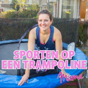 Sporten op een trampoline