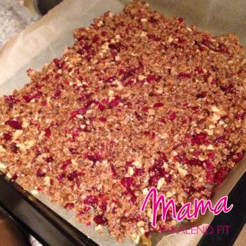 Suikervrije cranberry-dadelrepen