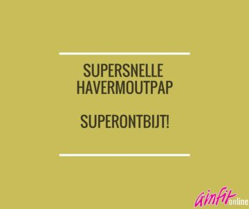 Supersnelle havermoutpap