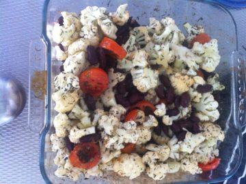 Vega-groentemaaltijd uit de oven