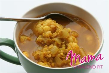 Recept suikervrije lunch linzen bloemkool soep