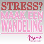 stress maak een wandeling