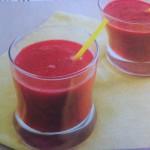 rode biet banaan smoothie