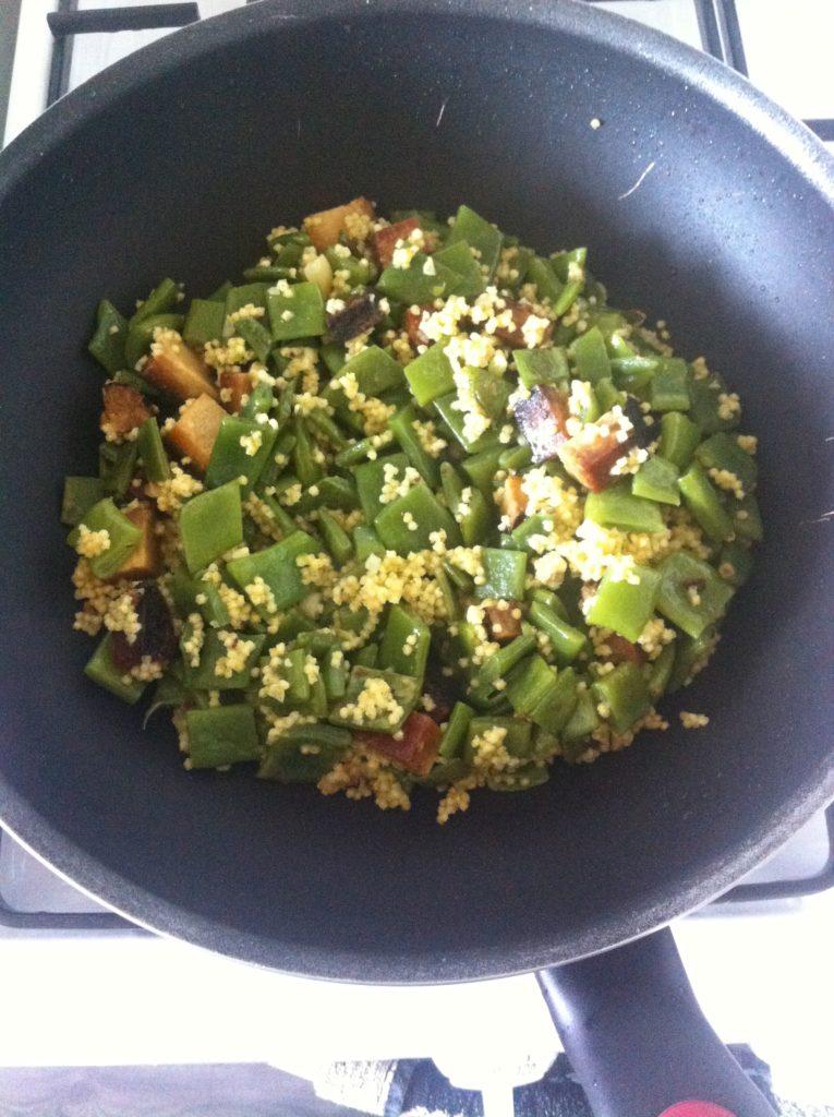 snijboon tofu en gierst
